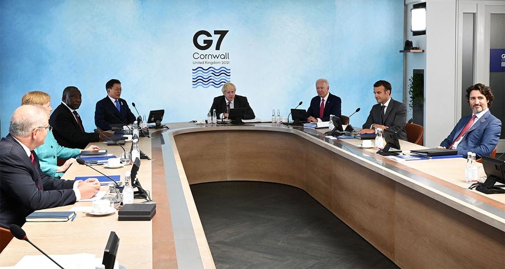 Hội nghị thượng đỉnh G7 tại Cornwall, Anh, ngày 12/6. Ảnh: Reuters.