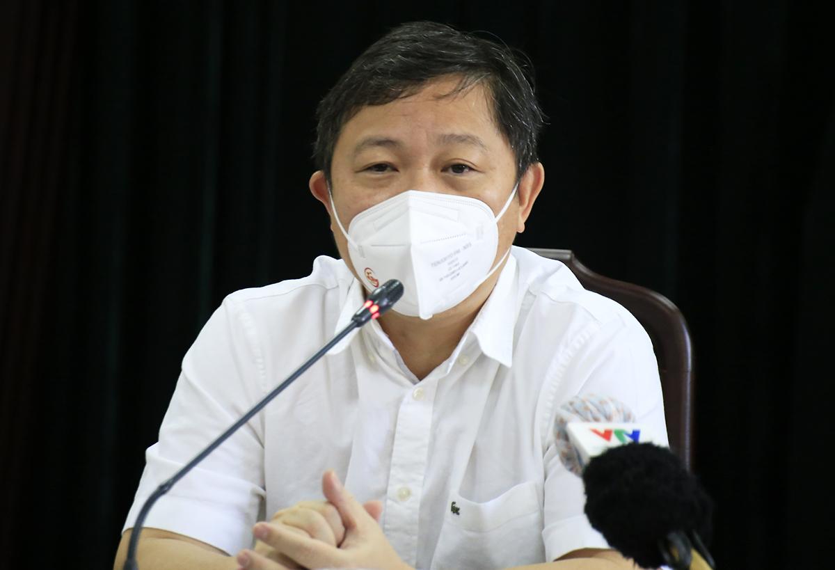 Phó chủ tịch UBND TP HCM Dương Anh Đức tại buổi làm việc với quận Gò Vấp ngày 13/6. Ảnh:Hữu Công.