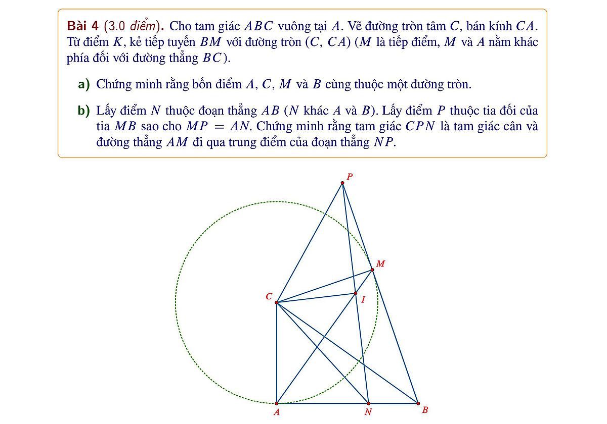 Đề và đáp án Toán thi vào lớp 10 ở Hà Nội - 5