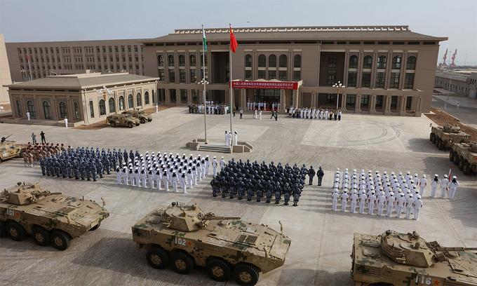 Binh sĩ Trung Quốc tại căn cứ ở Djibouti tháng 8/2017. Ảnh: AFP.