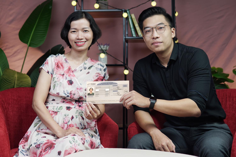 Chị Hải Yến và thầy giáo Ngọc Trung, giảng viên tại Anh ngữ Ms Hoa.