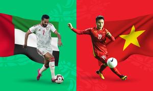 Tương quan trước trận UAE - Việt Nam