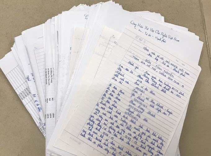 Đoàn trường Đại học Y Khoa Vinh nhận được hơn 1.000 đơn tình nguyện tham gia chống dịch của sinh viên. Ảnh: Đoàn trường Đại học Y Khoa Vinh.