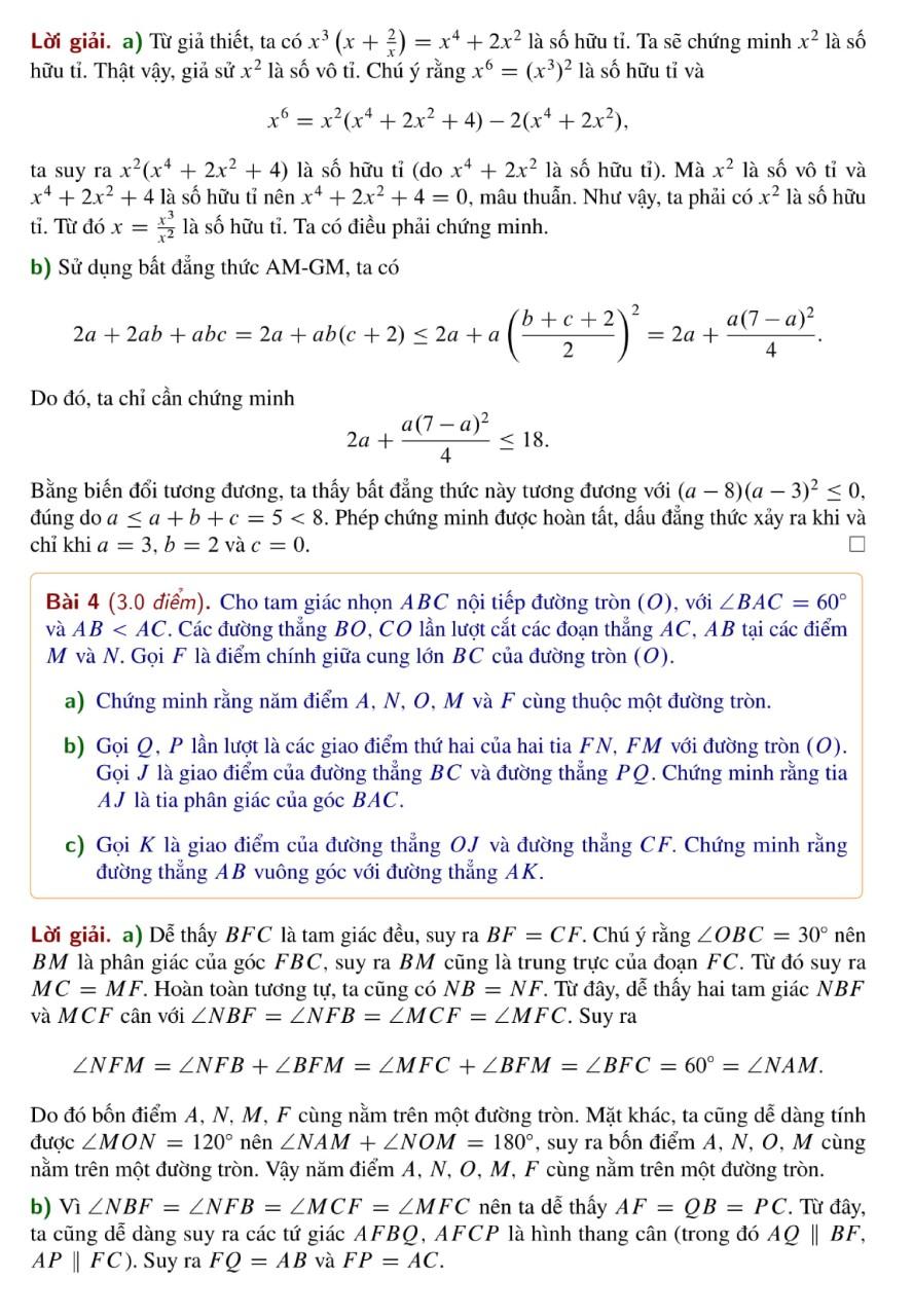 Lời giải đề thi Toán vào lớp 10 trường chuyên Hà Nội - 3