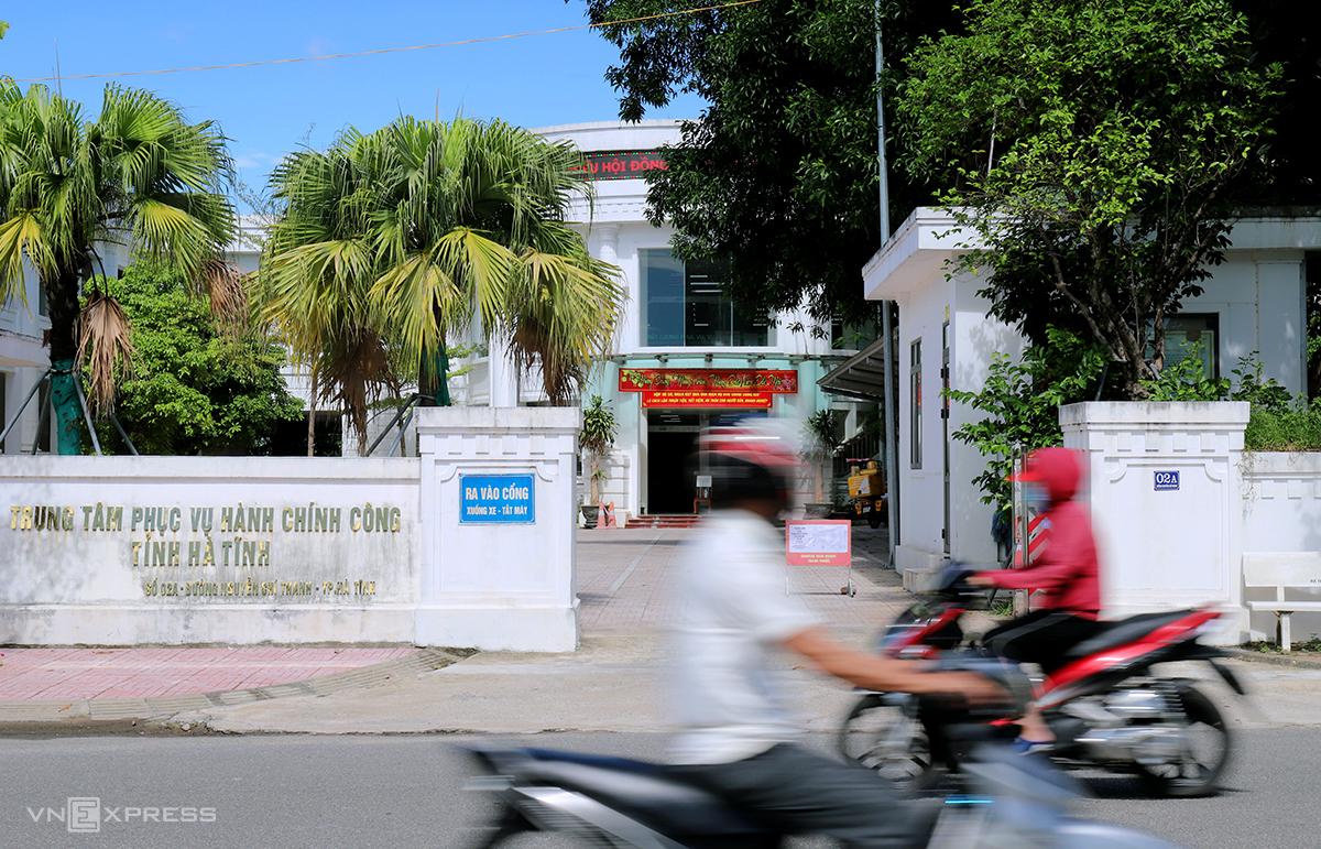 Trung tâm phục vụ hành chính công tỉnh Hà Tĩnh. Ảnh: Đức Hùng
