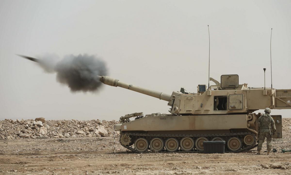 Pháo binh lục quân Mỹ tham gia diễn tập African Lion 2021. Ảnh: US Army.