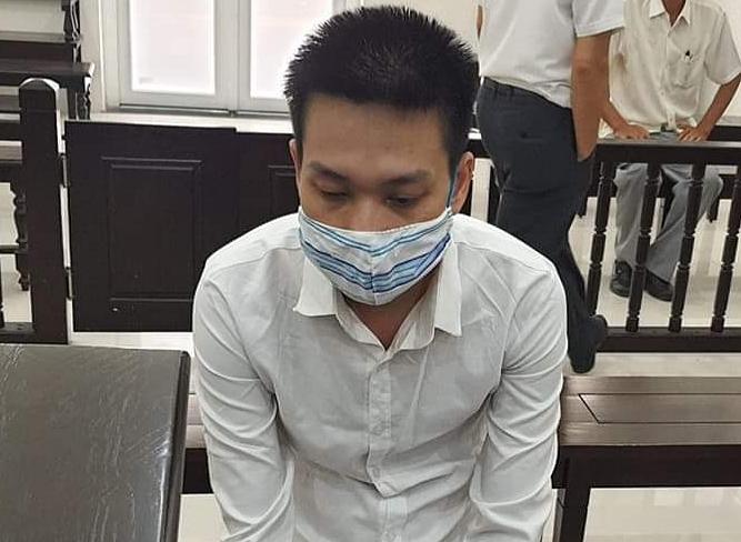 Bị cáo Thái Duy Phương tại phiên xét xử. Ảnh: Lê Lam