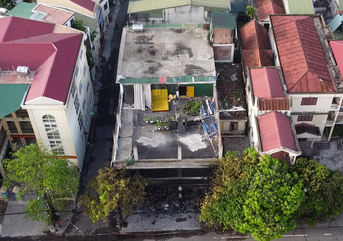 Căn nhà xảy ra cháy nằm ở hai mặt tiền đường Đinh Công Tráng và Nguyễn Biểu 1. Ảnh: CTV