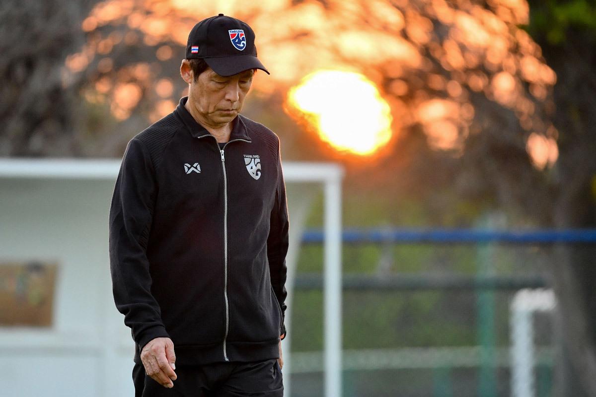 Thailand asuhan Nishino hanya meraih sembilan poin setelah delapan pertandingan kualifikasi Piala Dunia 2022. Foto: AFC