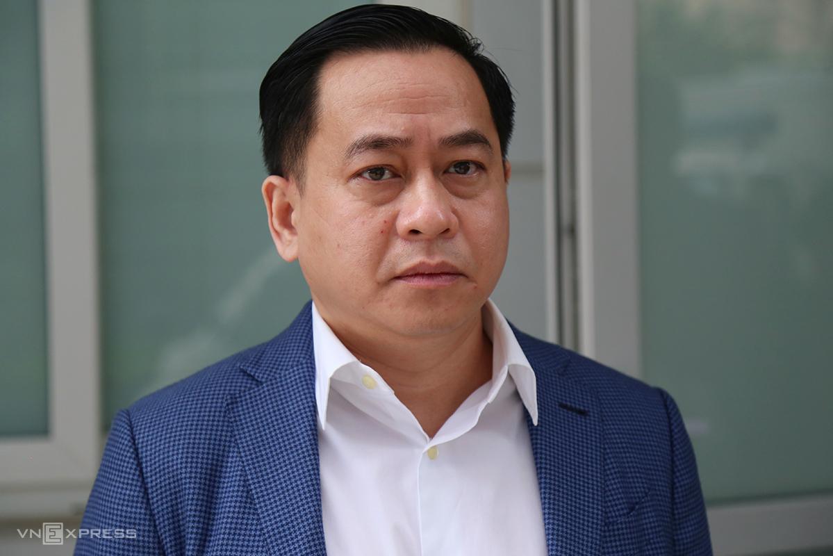 Vũ Nhôm tại một phiên toà ở TAND Hà Nội, tháng 2/2020. Ảnh: Phạm Dự.