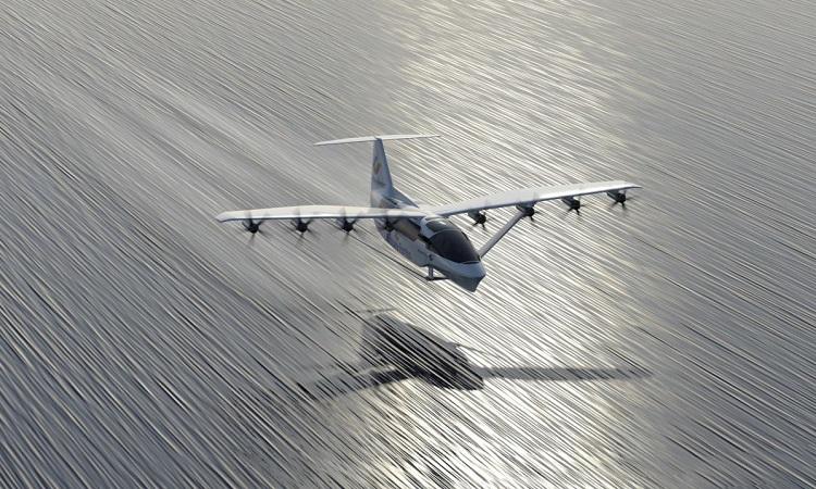 Mô phỏng phà bay bay trên mặt biển. Ảnh: Brittany Ferries.