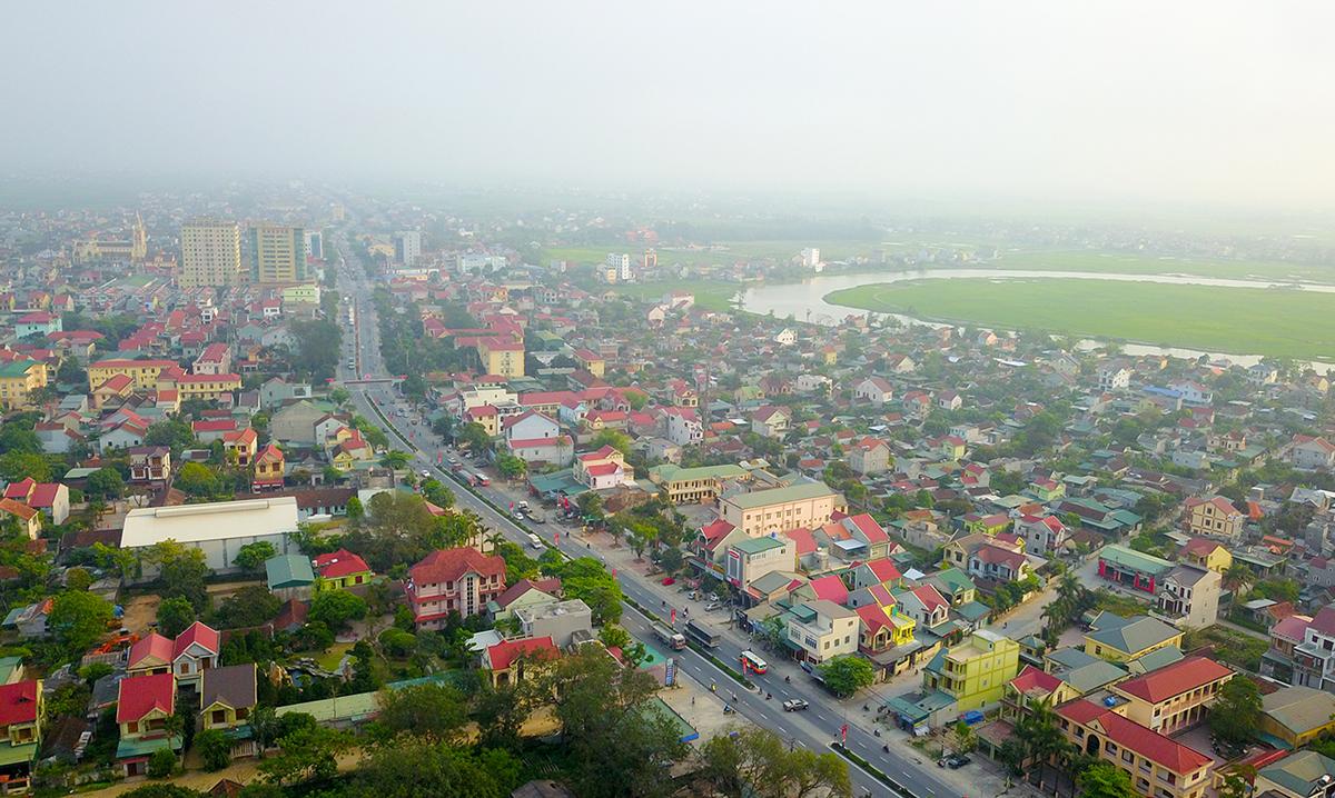 Một góc huyện Diễn Châu. Ảnh: Sách Nguyễn