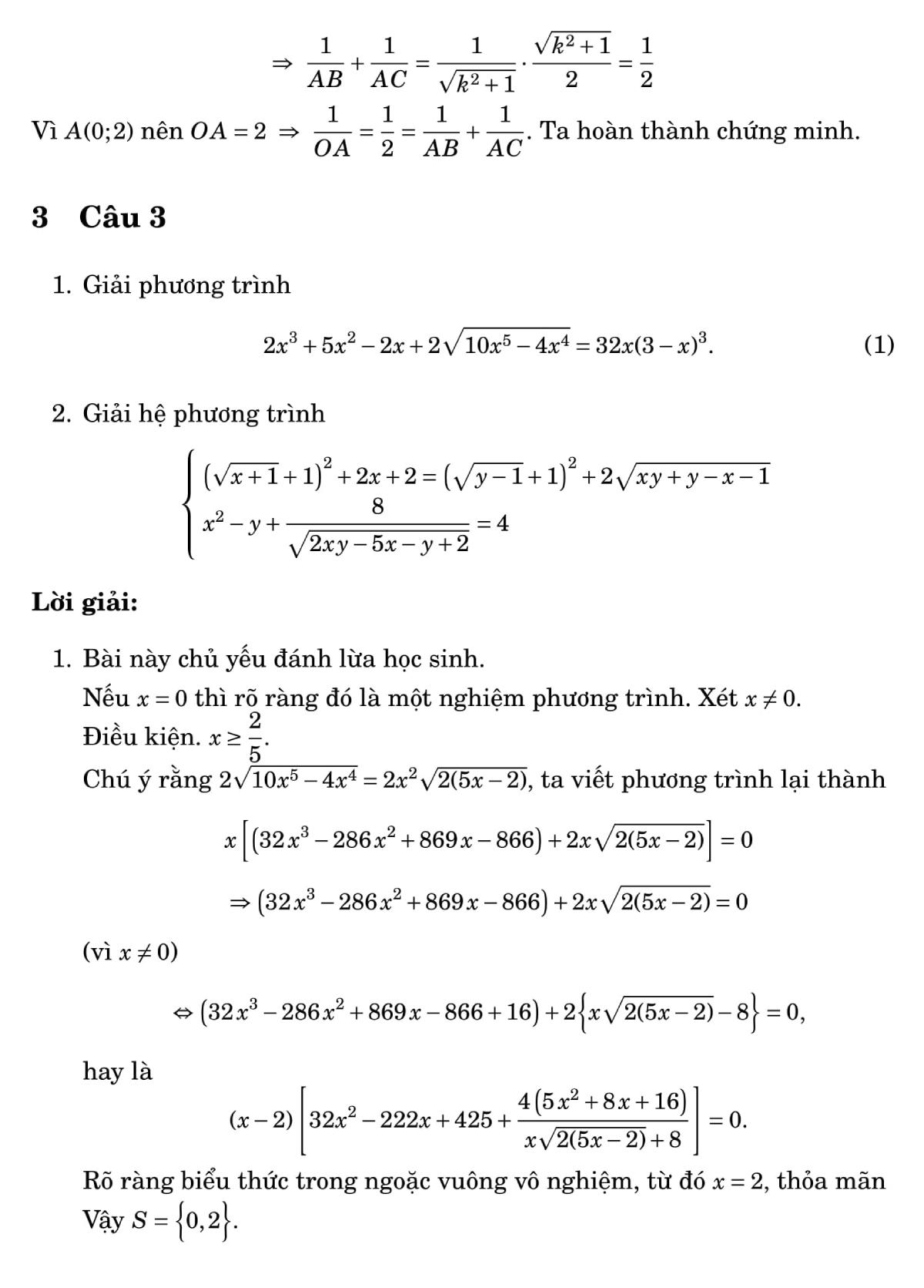 Giải đề Toán chuyên vào lớp 10 ở Đà Nẵng - 3