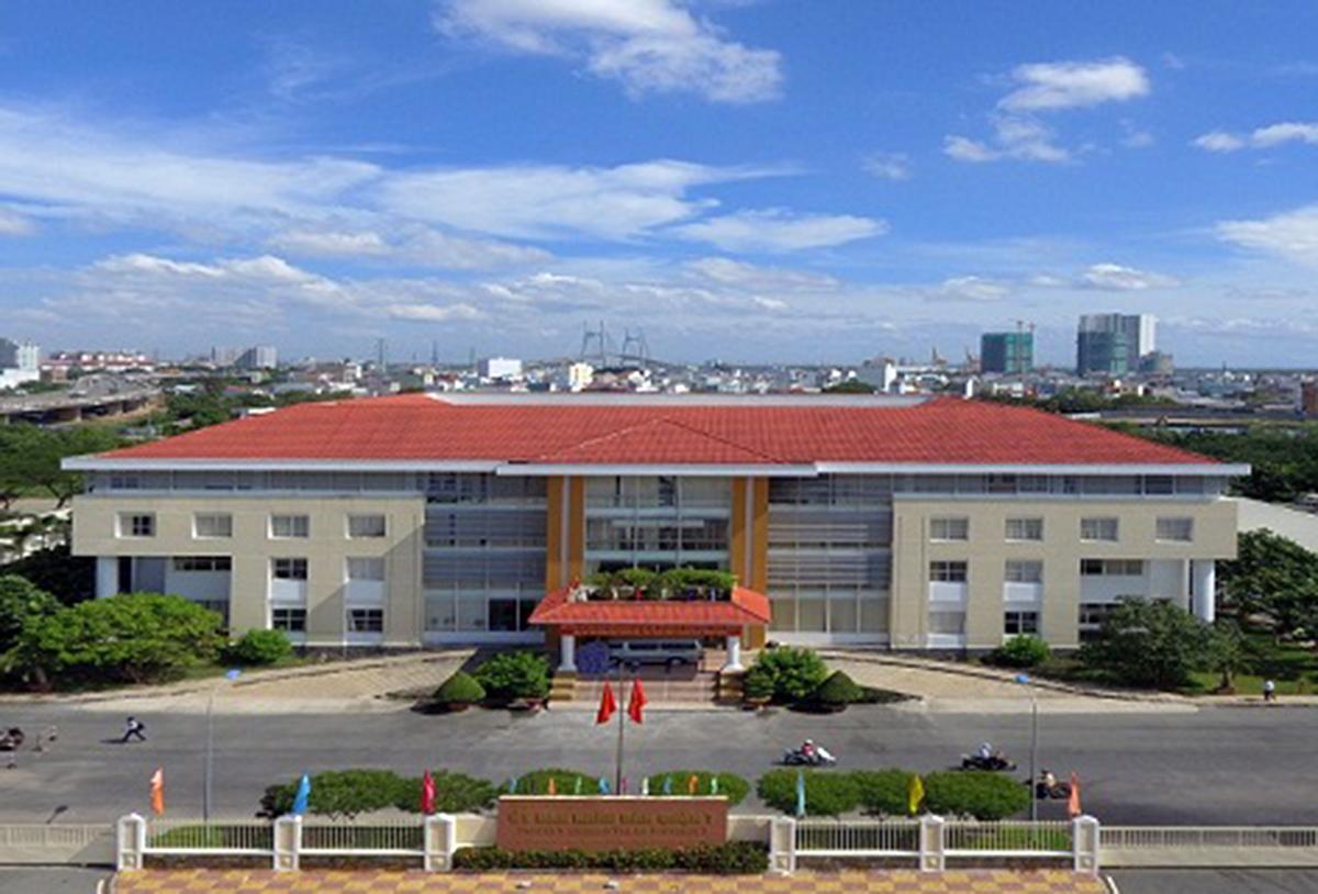 Trụ sở UBND quận 7 ở đường Tân Phú, phường Tân Phú. Ảnh: Website quận 7.