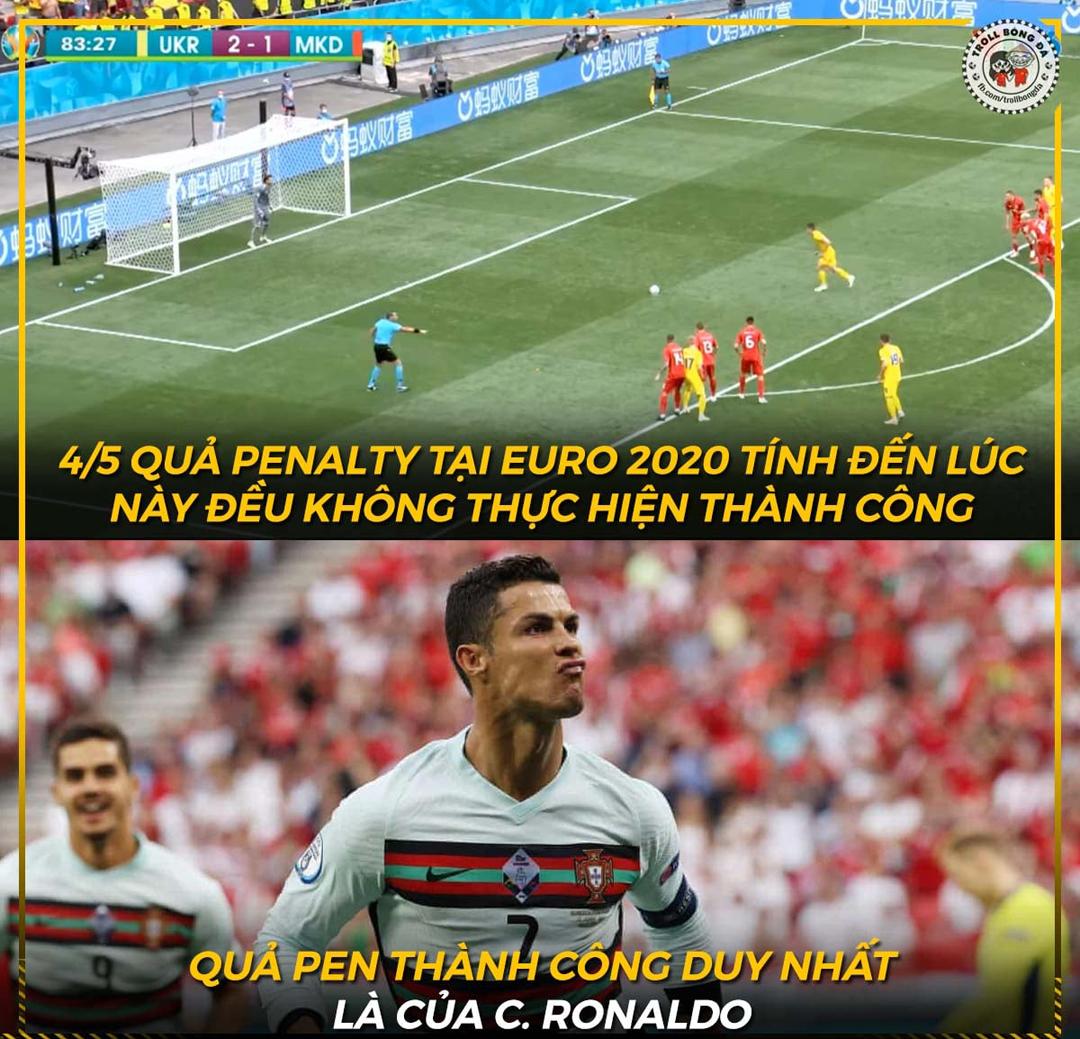 Tuy nhiên, Ronaldo còn vớt vát lại được tí khi là cầu thủ duy nhất thực hiện thành công Penalty cho đến thời điểm này.