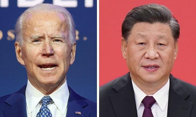 Tổng thống Mỹ Joe Biden (trái) và Chủ tịch Trung Quốc Tập Cận Bình. Ảnh: Reuters.