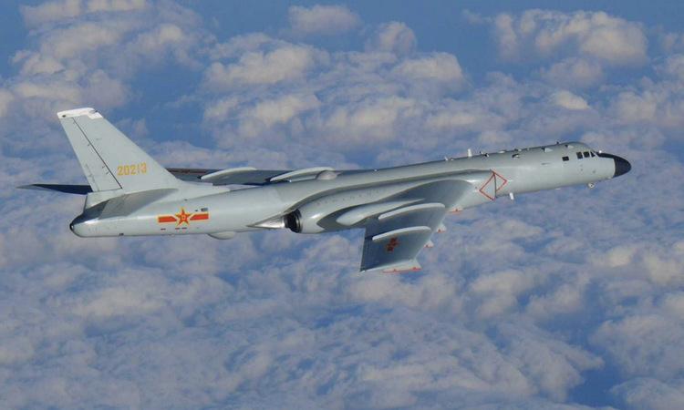 Oanh tạc cơ Trung Quốc đại lục áp sát Đài Loan hồi năm 2019. Ảnh: Cơ quan phòng vệ Đài Loan.