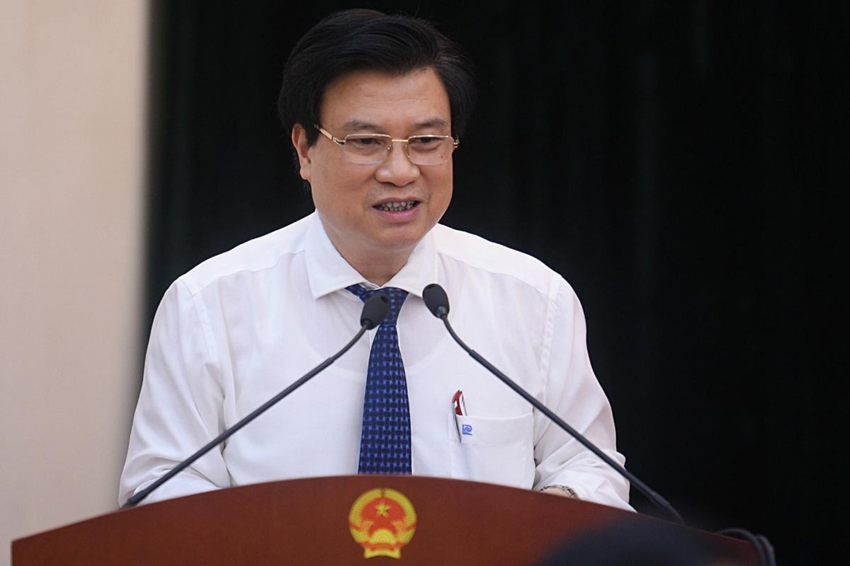 Thứ trưởng Giáo dục và Đào tạo Nguyễn Hữu Độ tại Hội nghị tổng kết Đề án Xây dựng xã hội học tập giai đoạn 2012-2020, sáng 18/6. Ảnh: MOET