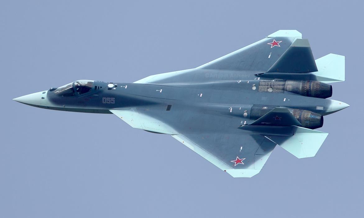 Nguyên mẫu Su-57 số hiệu 055 của Nga. Ảnh: Russian Planes.