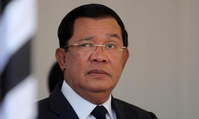 Thủ tướng Hun Sen trong một sự kiện tại Campuchia năm 2017. Ảnh: Reuters.