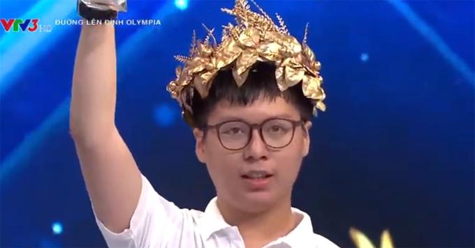 Nguyễn Thiện Hải An (trường THPT Chuyên Khoa học Tự nhiên, ĐH khoa học Tự nhiên, ĐH Quốc gia Hà Nội) giành giải nhất chung kết Quý III Đường lên đỉnh Olympia năm thứ 21 với 325 điểm. Ảnh chụp màn hình.