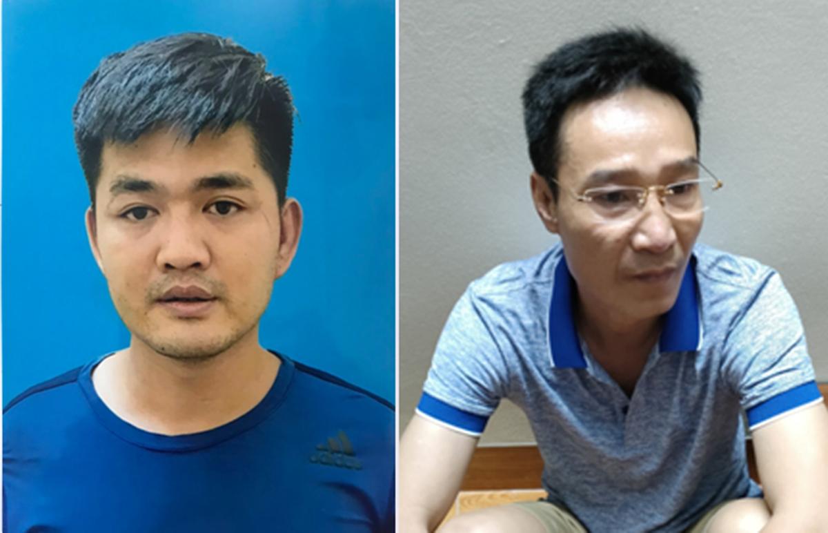 Nghi can Trần Thái Bảo (ảnh bên trái) cùng đàn em Phạm Khương Duy. Ảnh: Công an cung cấp