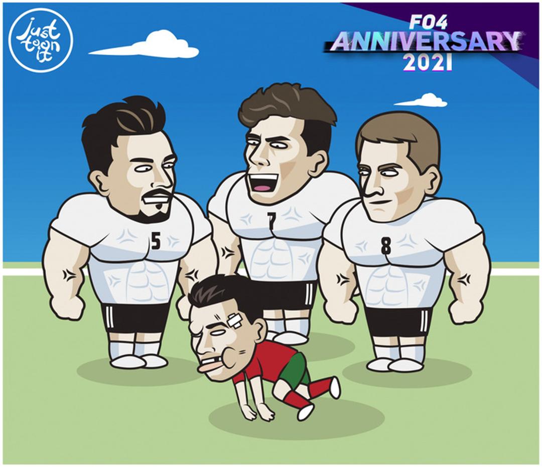 Ronaldo và đồng đội thảm bại trước tuyển Đức tại lượt trận thứ 2 vòng bảng Euro 2021.