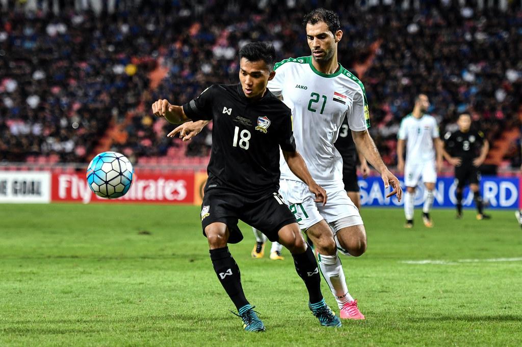 Thái Lan, với thế hệ vàng của Chanathip (số 18), cũng từng thua tan nát ở giai đoạn cuối vòng loại khu vực châu Á. Ảnh: FIFA