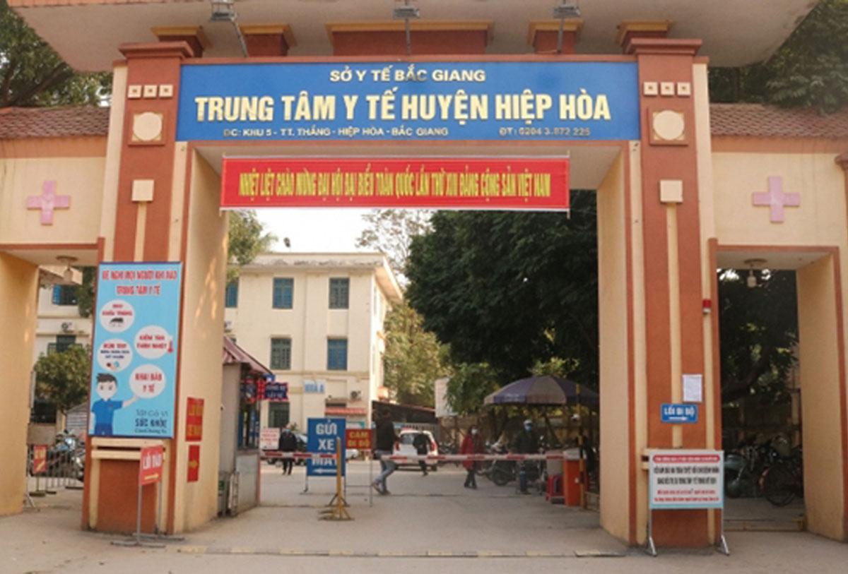 Bệnh viện dã chiến Hiệp Hòa được đặt trong trung tâm y tế huyện, chuyên điều trị bệnh nhân Covid-19. Ảnh: Cổng thông tin huyện Hiệp Hòa