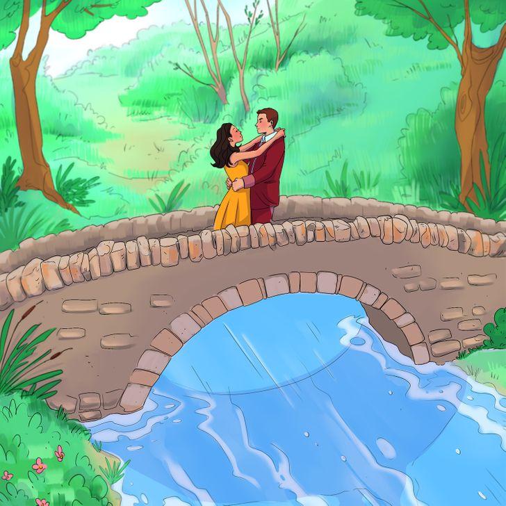 Bức tranh cặp đôi ôm nhau có gì bất thường?