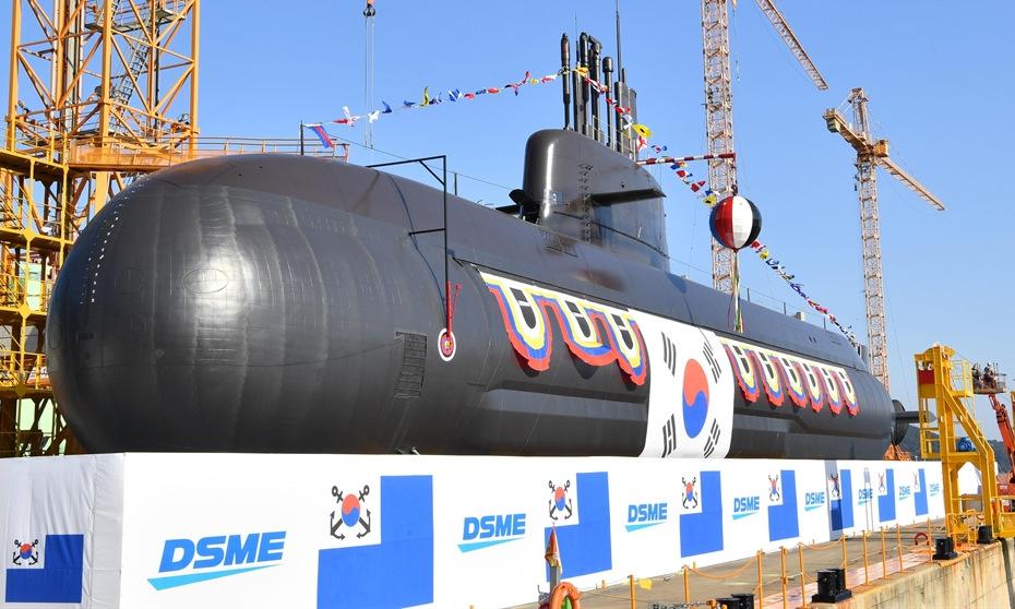 Tàu ngầm tấn công lớp Dosan Ahn Changho do DSME chế tạo. Ảnh: Yonhap.
