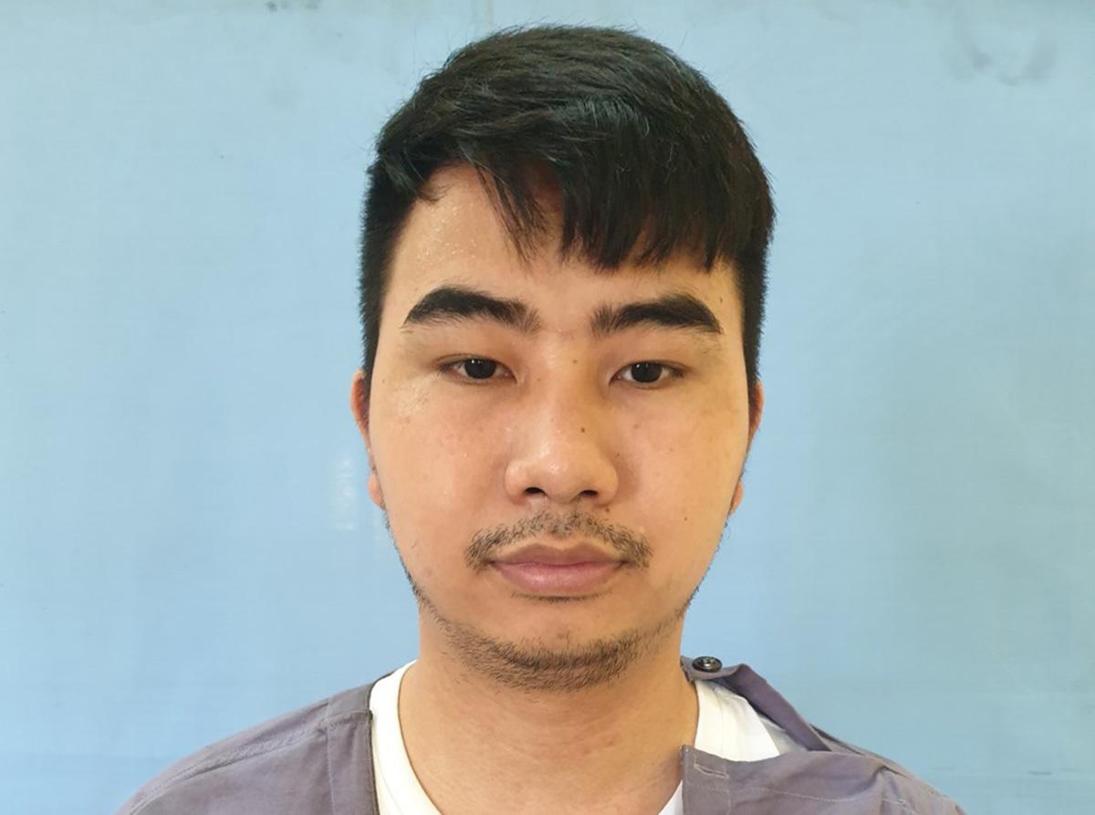 Nghi can Nguyễn Thế Dương - Quản lý, điều hành hoạt động của sàn Hitoption.net. Ảnh: Công an cung cấp