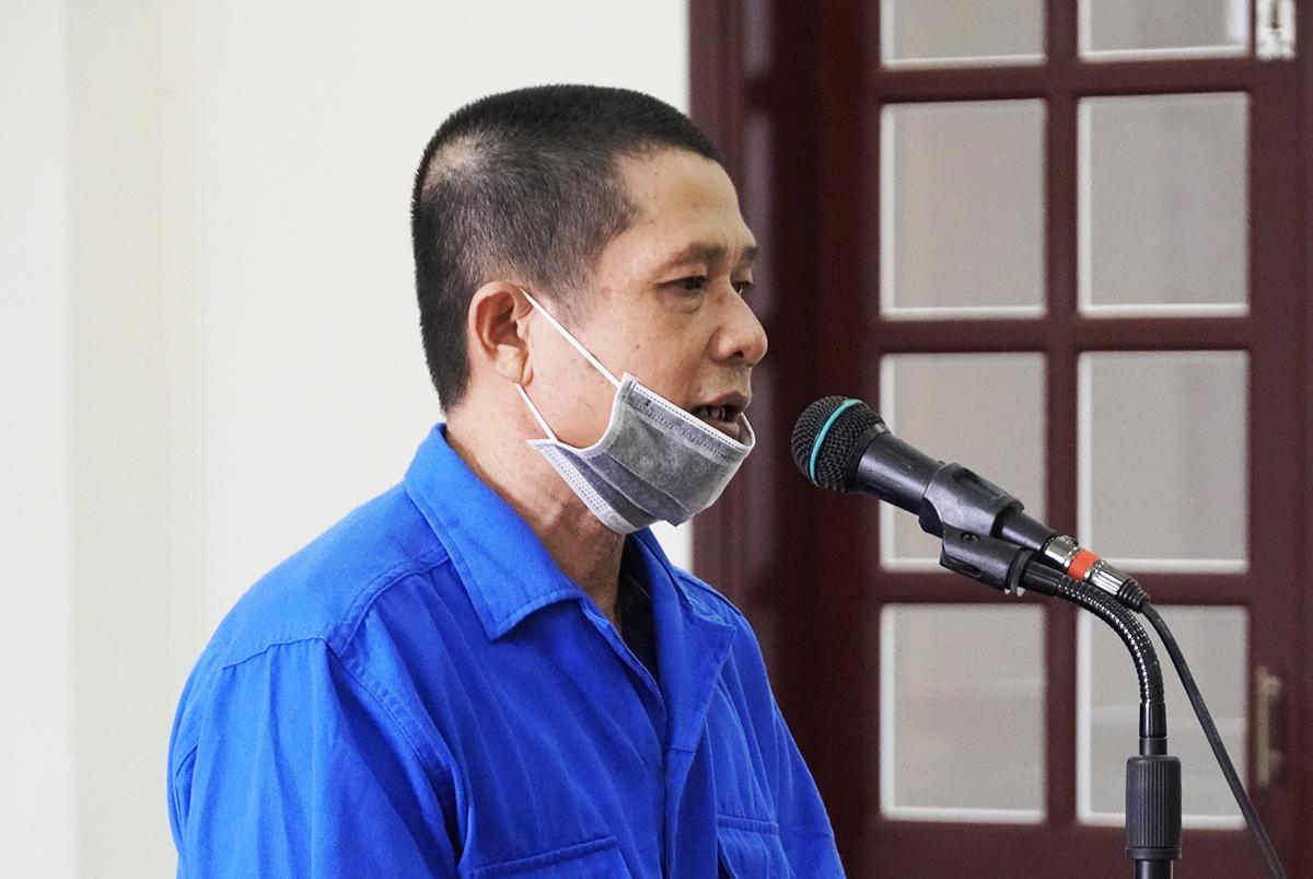 Nguyễn Văn Vũ tại tòa hôm nay. Ảnh: Hắc Minh.
