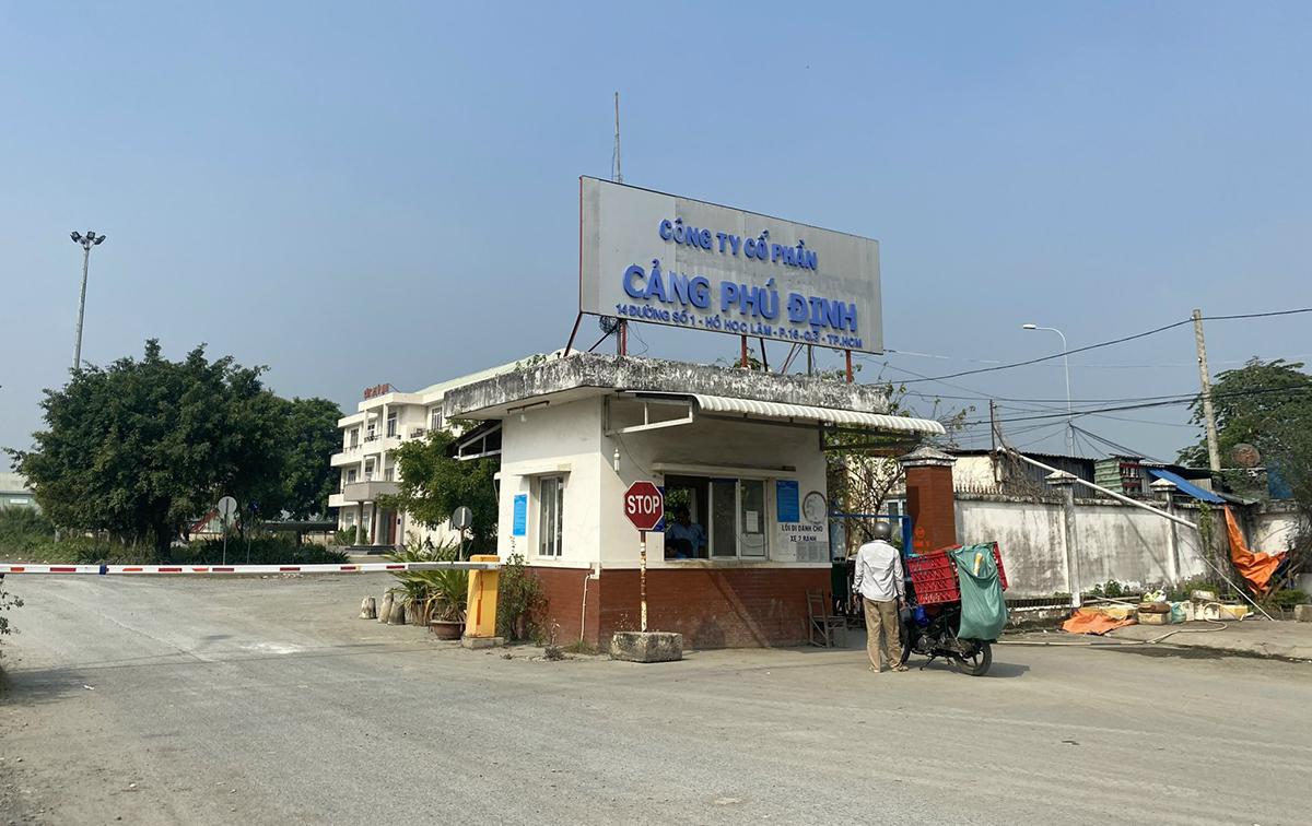 Công ty Cổ phần cảng Phú Định. Ảnh: Hữu Khoa.