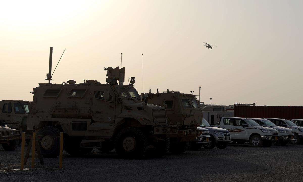 Vị trí đóng quân của Mỹ tại căn cứ Erbil, miền bắc Iraq, hôm 6/6. Ảnh: US Army.
