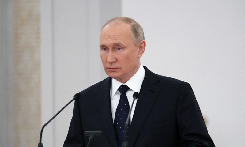 Tổng thống Nga Vladimir Putin phát biểu tại Hạ viện hôm 21/6. Ảnh: AFP.