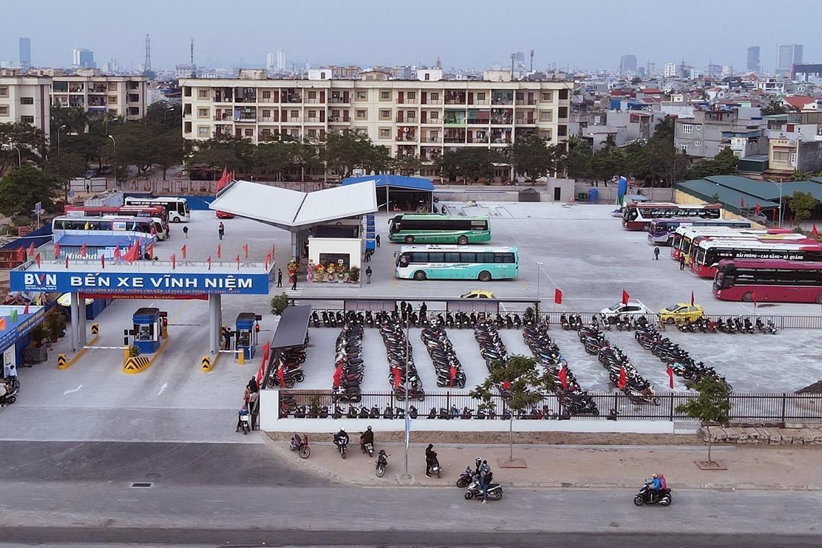 Bến xe Vĩnh Niệm là một trong các bến xe trên địa bàn TP Hải Phòng được yêu cầu dừng tuyến đến TP HCM từ 31/5. Ảnh: Giang Chinh.