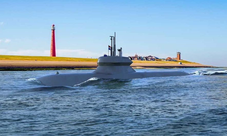 Thiết kế tàu ngầm lớp Blekinge của Thụy Điển. Ảnh: SAAB.
