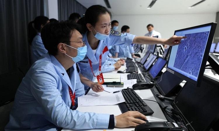 Hệ thống máy tính Kylin được sử dụng trong chương trình vũ trụ của Trung Quốc. Ảnh: Xinhua.