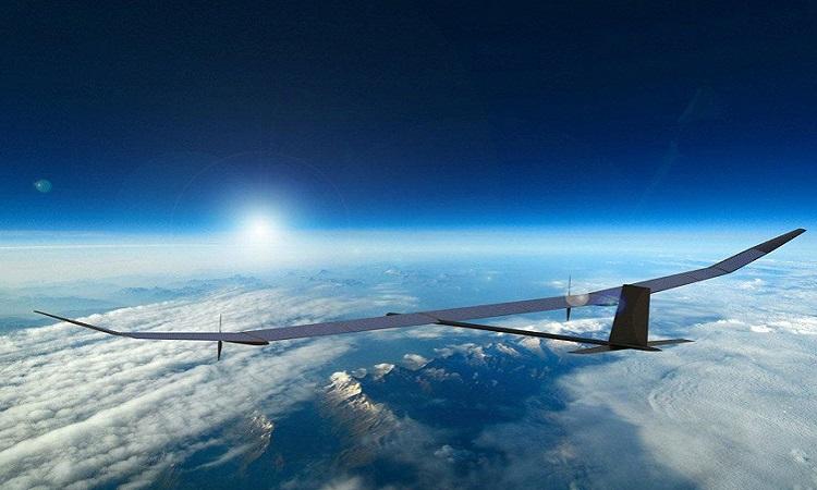 Mô phỏng drone PHASA-35 bay ở tầng bình lưu. Ảnh: BAE.