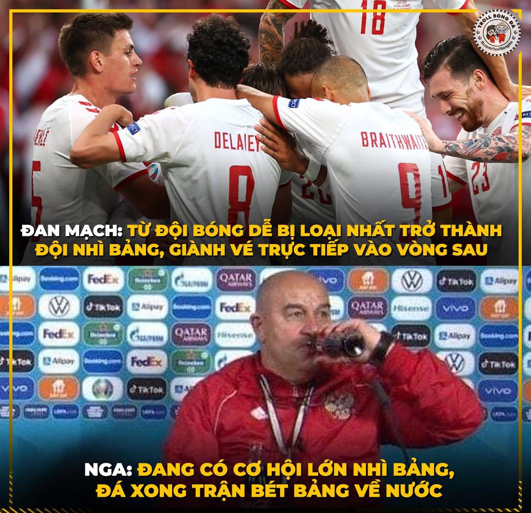 Tuyển Nga bị Đan Mạch vượt qua trong trận đấu cuối cùng và mất luôn vé vào vòng sau.