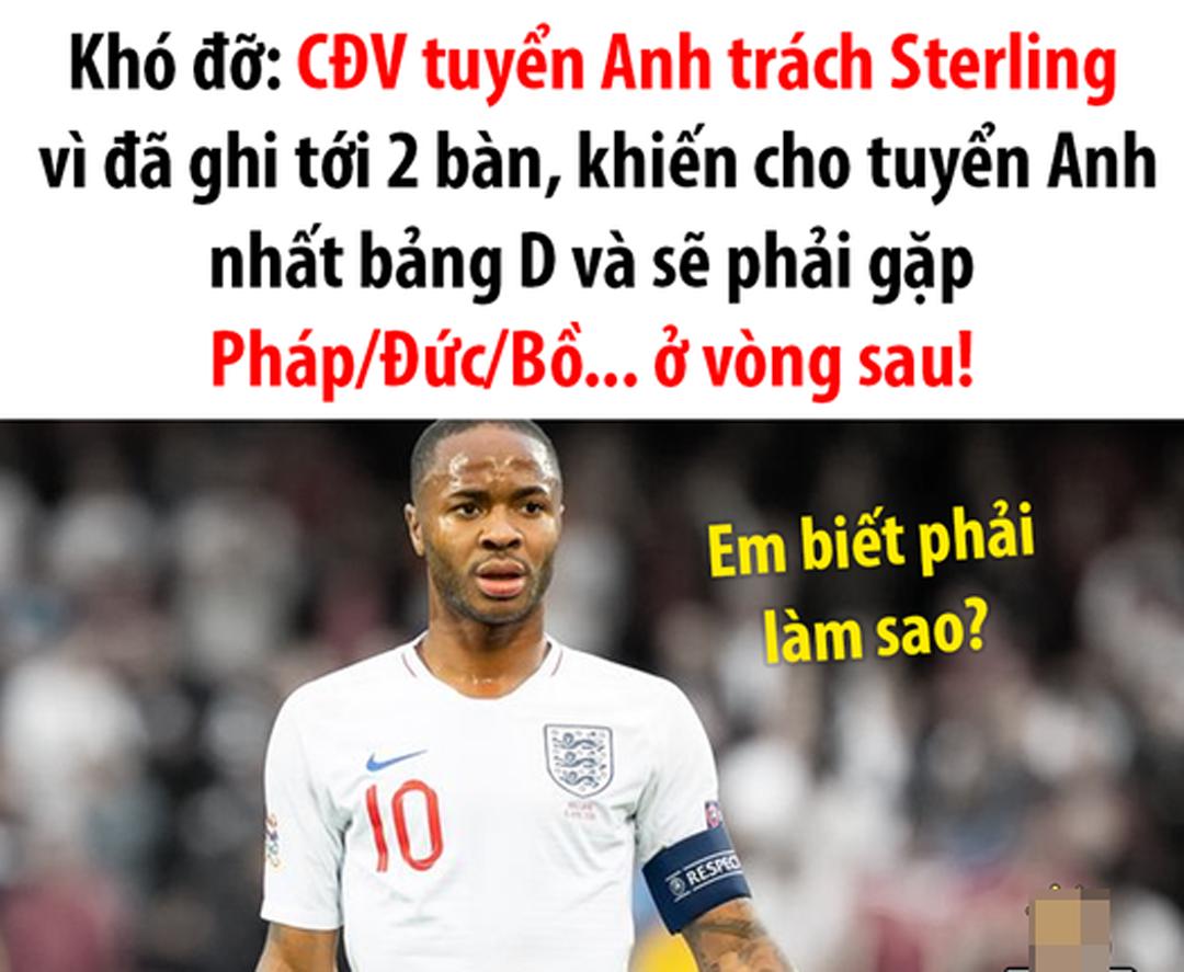 Không biết sống sao cho vừa lòng, tuyển Anh sẽ gặp Đức ở vòng sau.