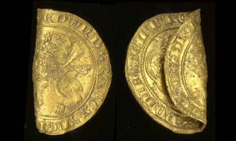 Đồng leopard quý hiếm được ban hành vào thời vua Edward III. Ảnh: CC BY 2.0.