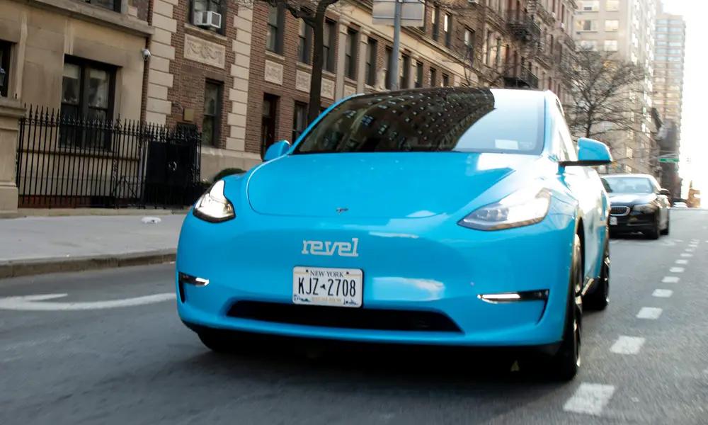 Đội xe dịch vụ của Revel ở Manhattan sẽ gồm 50 chiếc Tesla Model Y - mẫu crossover thuần điện. Ảnh: Revel