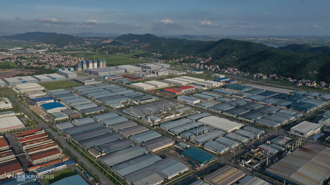 Khu công nghiệp Vân Trung, huyện Việt Yên, tỉnh Bắc Giang. Ảnh: Ngọc Thành