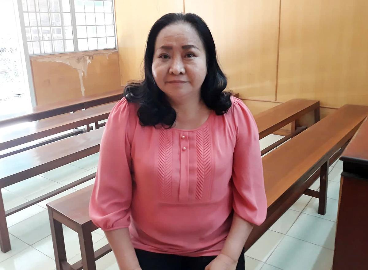 Bà Thúy trong lần ra tòa phúc thẩm hồi tháng 3. Ảnh: Hải Duyên.