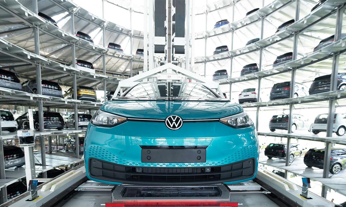 Xe điện Volkswagen ID.3 tại trụ sở ở Wolfsburg. Ảnh: Volkswagen