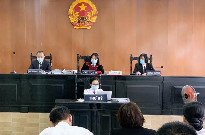 Phiên tòa xử sơ thẩm vụ án. Ảnh: Dương Trang.