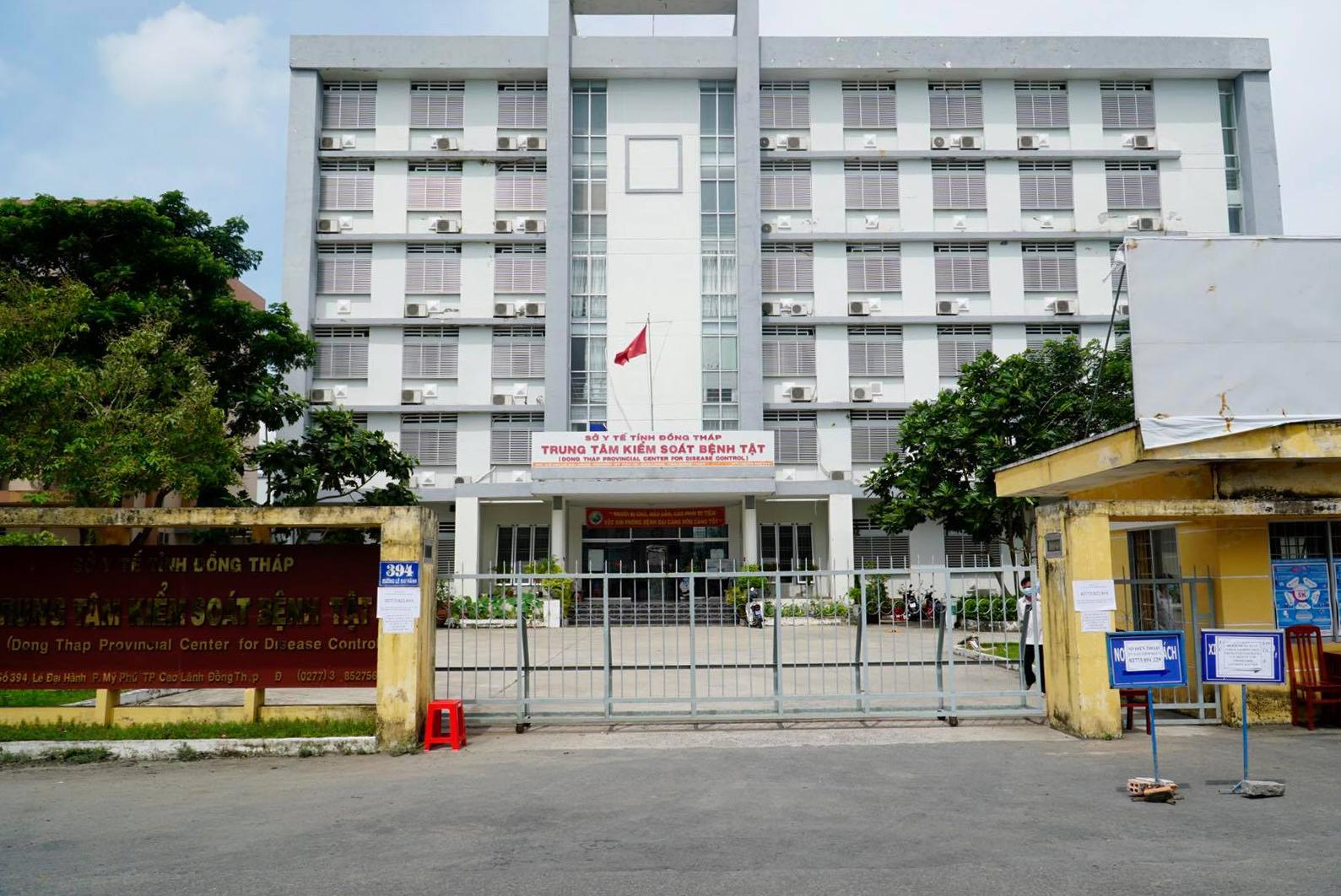 Trung tâm Kiểm soát Bệnh tật tỉnh Đồng Tháp sáng 25/6. Ảnh: Ngọc Tài