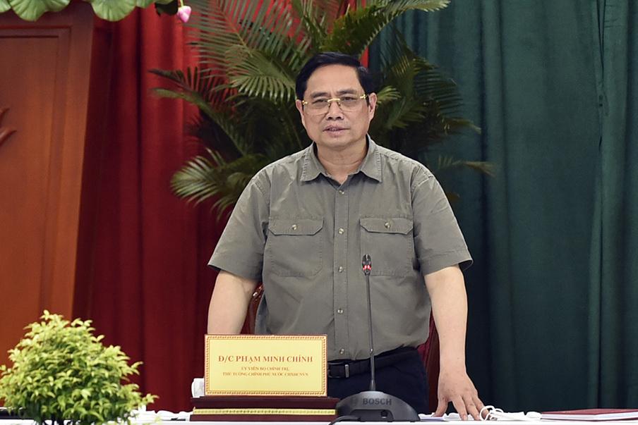 Thủ tướng Phạm Minh Chính làm việc với tỉnh Đồng Nai, chiều 27/6. Ảnh: Nhật Bắc